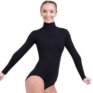 NWT Capezio Black Turtleneck Leotard Size XS